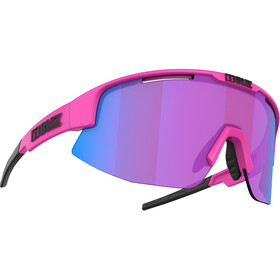 Bliz Matrix Nano Optics Nordic Light Brille matt neon pink/begonia with blue multi
